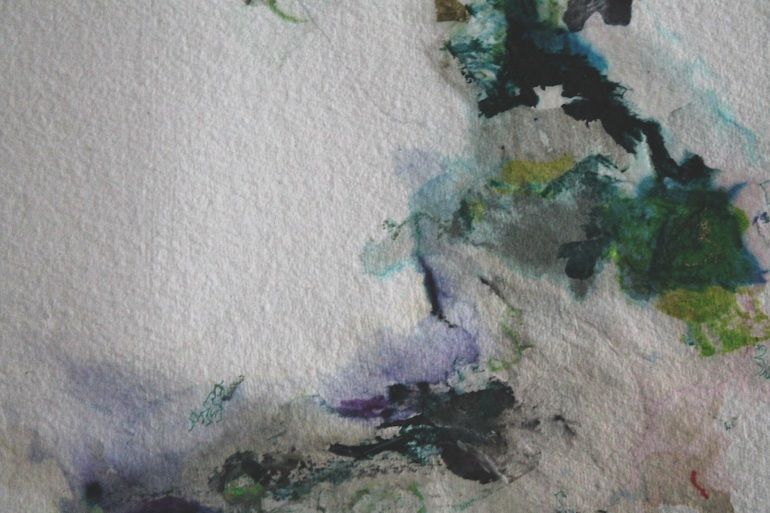 Detail, Tusche/ink & Acryl auf Bütten/on store bought handmade paper