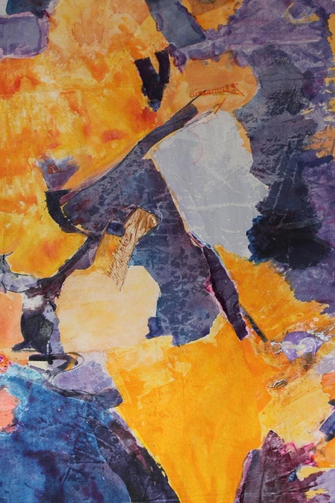 Tusche, Acryl & Collage auf Leinwand